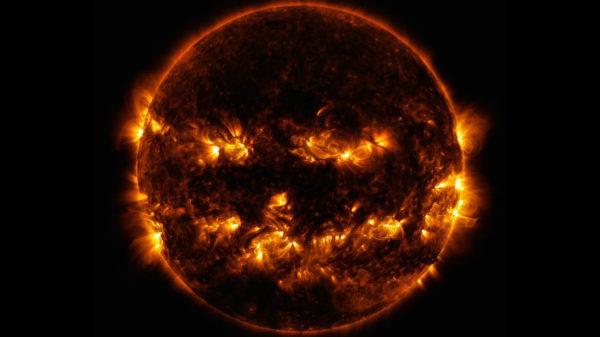 """Jack-o-lanter"" Sun"